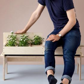 Design graduate Florian Wegenast has created furniture that incorporates plant holders, as a way of maximising green space in tight urban environments.